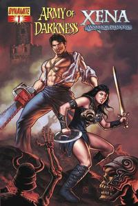 Cover for Army of Darkness / Xena (2008 series) #1 [Udon Studios Negative Art Incentive Cover]