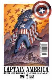 Cover Thumbnail for Captain America (Marvel, 2002 series) #1 [Newsstand Edition]