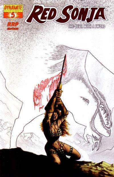 Cover for Red Sonja (2005 series) #5 [Mel Rubi Cover]