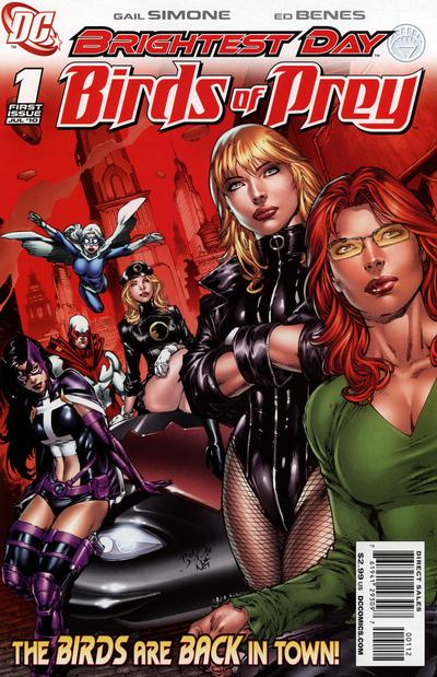 Cover for Birds of Prey (2010 series) #1 [2nd Printing]
