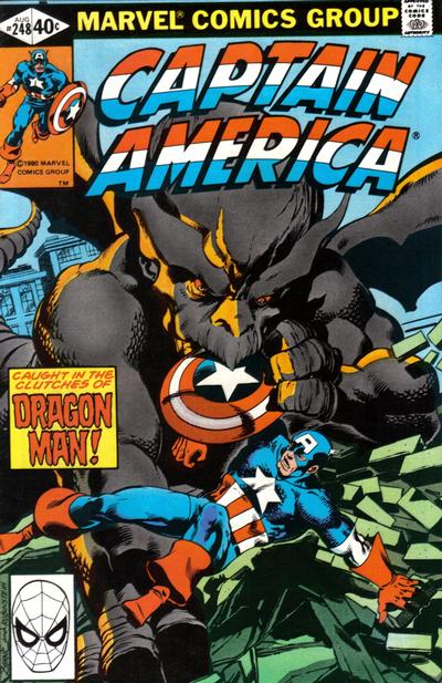 Cover for Captain America (Marvel, 1968 series) #248 [Direct Edition]