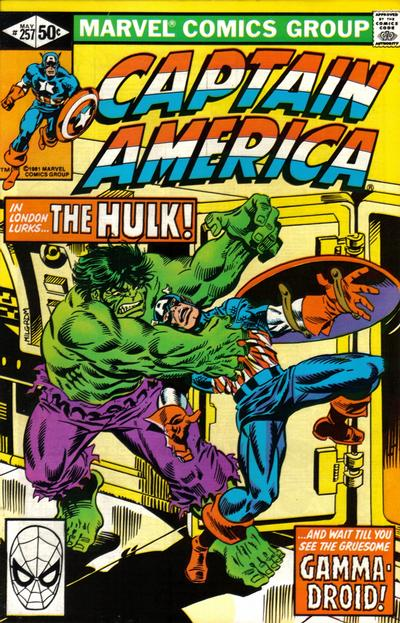 Cover for Captain America (1968 series) #257 [Direct]