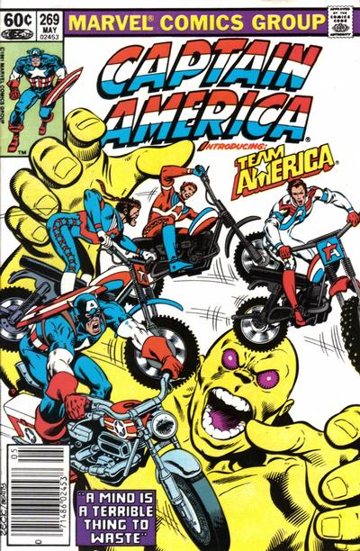Cover for Captain America (Marvel, 1968 series) #269 [Newsstand Edition]