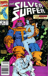 Cover Thumbnail for Silver Surfer (Marvel, 1987 series) #56 [Newsstand Edition]