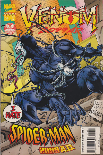 Cover for Spider-Man 2099 (Marvel, 1992 series) #38 [Venom 2099 Cover]