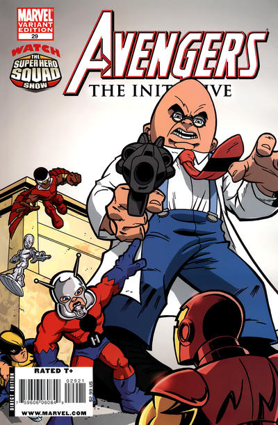 Cover for Avengers: The Initiative (Marvel, 2007 series) #29 [Super Hero Squad Variant]