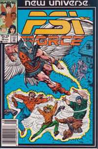 Cover for Psi-Force (Marvel, 1986 series) #10 [newsstand]