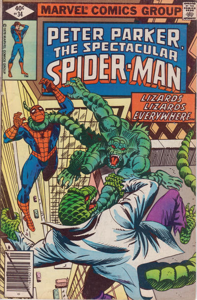 Cover for The Spectacular Spider-Man (Marvel, 1976 series) #34 [newsstand]