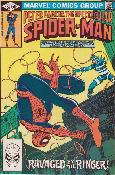 Cover for The Spectacular Spider-Man (Marvel, 1976 series) #58 [newsstand]