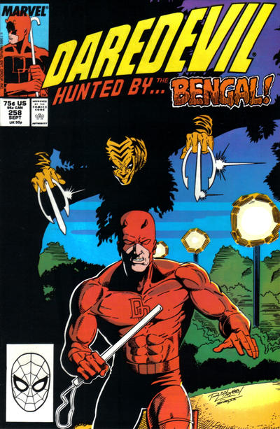 Cover for Daredevil (Marvel, 1964 series) #258 [Newsstand Edition]