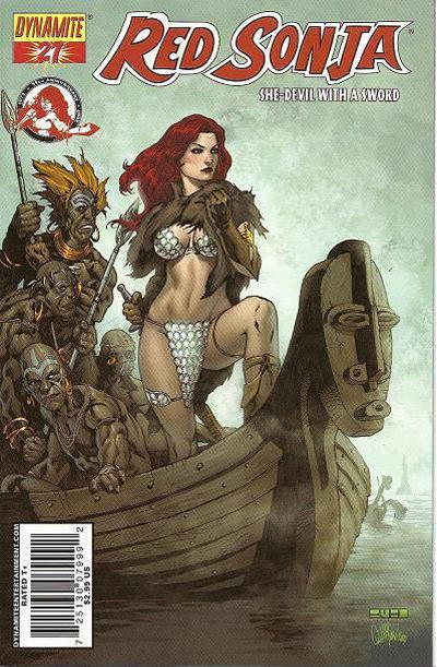 Cover for Red Sonja (Dynamite Entertainment, 2005 series) #27 [Mel Rubi Cover]