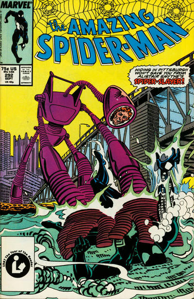 Cover for The Amazing Spider-Man (Marvel, 1963 series) #292 [Direct Edition]