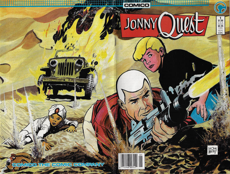 Cover for Jonny Quest (1986 series) #1 [Newsstand Edition]