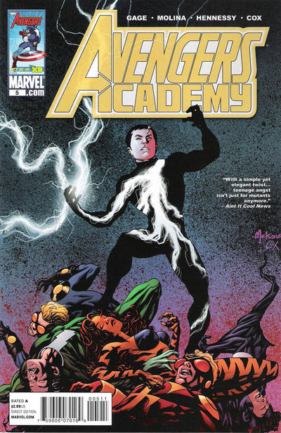 Cover for Avengers Academy (2010 series) #5 [Vampire Variant Edition]