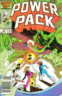 Cover Thumbnail for Power Pack (Marvel, 1984 series) #25 [Newsstand Edition]