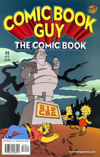 Cover Thumbnail for Bongo Comics Presents Comic Book Guy: The Comic Book (Bongo, 2010 series) #4