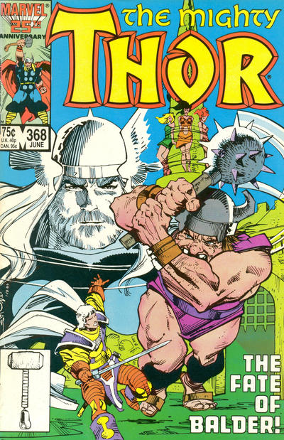 Cover for Thor (Marvel, 1966 series) #368 [Direct Edition]