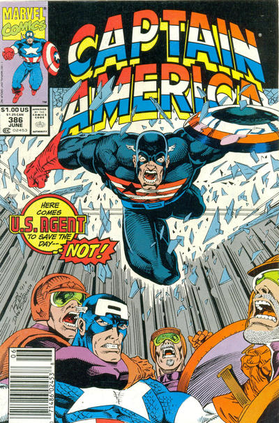 Cover for Captain America (1968 series) #386 [direct edition]