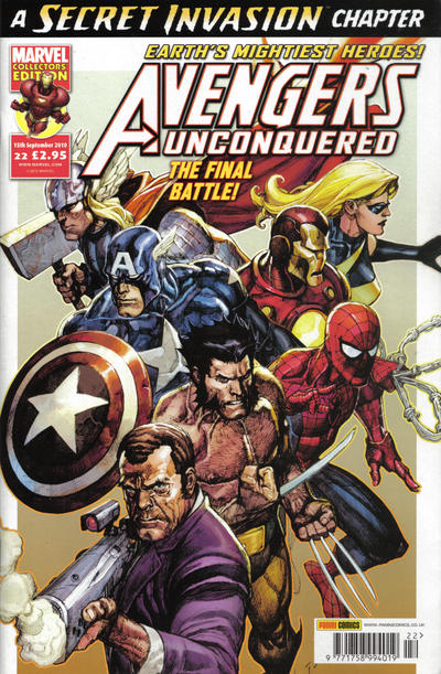 Cover for Avengers Unconquered (Panini UK, 2009 series) #22