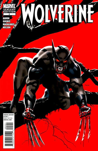 Cover for Wolverine (Marvel, 2010 series) #2 [Vampire Variant]