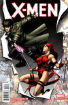 Cover for X-Men (Marvel, 2010 series) #4 [Variant Edition - Gambit & Elektra]
