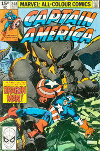 Cover Thumbnail for Captain America (Marvel, 1968 series) #248 [British Price Variant]
