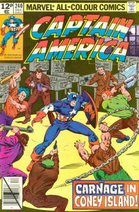 Cover Thumbnail for Captain America (Marvel, 1968 series) #240 [British Price Variant]