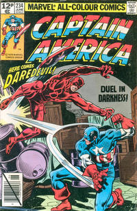 Cover for Captain America (Marvel, 1968 series) #234 [Direct Edition]