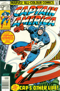 Cover Thumbnail for Captain America (Marvel, 1968 series) #225 [British Price Variant]