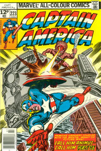 Cover Thumbnail for Captain America (Marvel, 1968 series) #223 [British Price Variant]