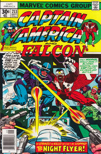 Cover Thumbnail for Captain America (Marvel, 1968 series) #213 [30 cent cover price]