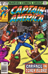 Cover Thumbnail for Captain America (Marvel, 1968 series) #240 [Newsstand Edition]