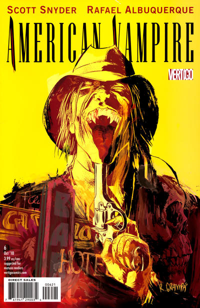 Cover for American Vampire (DC, 2010 series) #6 [Variant Cover (1 in 25)]