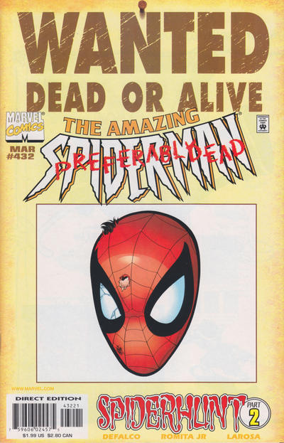 Cover for The Amazing Spider-Man (Marvel, 1963 series) #432 [Variant Edition]
