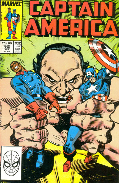 Cover for Captain America (Marvel, 1968 series) #338 [Direct Edition]