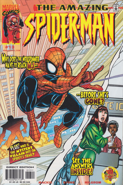 Cover for The Amazing Spider-Man (Marvel, 1999 series) #13 [Newsstand Edition]