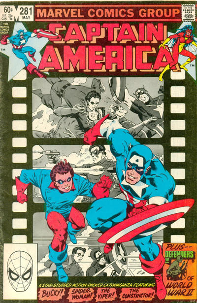 Cover for Captain America (Marvel, 1968 series) #281 [Direct Edition]