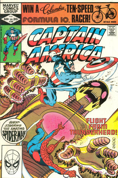 Cover for Captain America (Marvel, 1968 series) #266 [Newsstand Edition]
