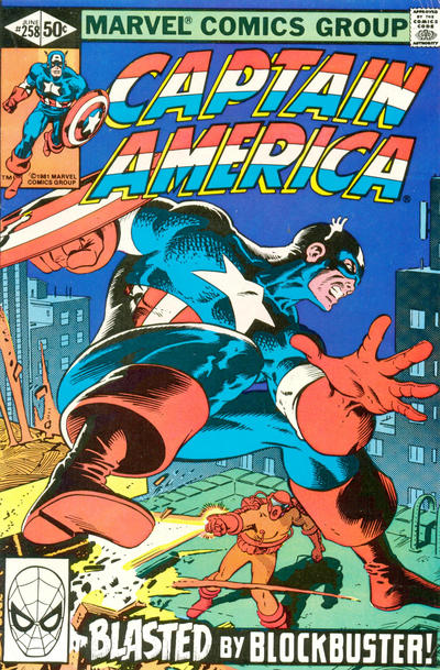 Cover for Captain America (Marvel, 1968 series) #258 [Direct Edition]
