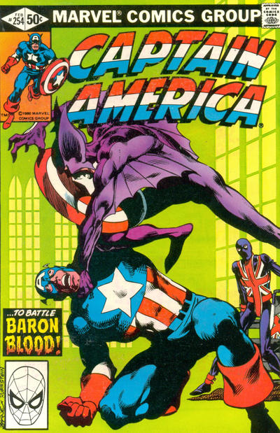 Cover for Captain America (Marvel, 1968 series) #254 [Newsstand Edition]