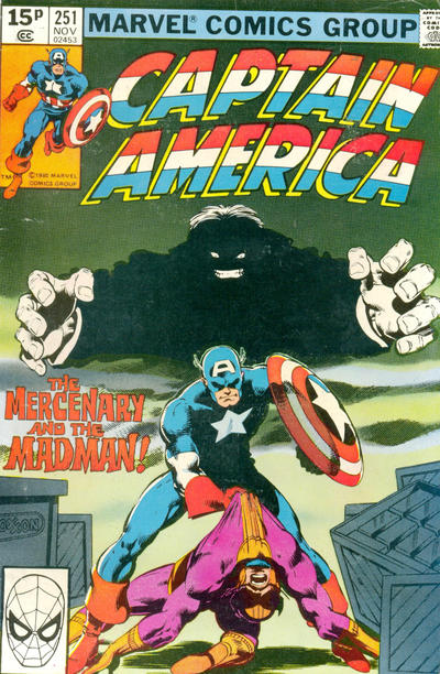 Cover for Captain America (Marvel, 1968 series) #251 [British Price Variant]