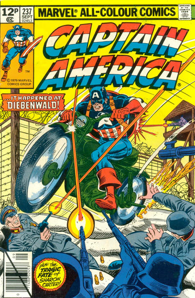 Cover for Captain America (1968 series) #237 [British]