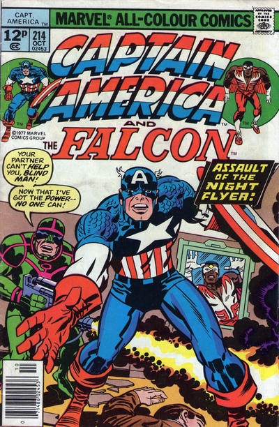 Cover for Captain America (Marvel, 1968 series) #214 [British price variant]