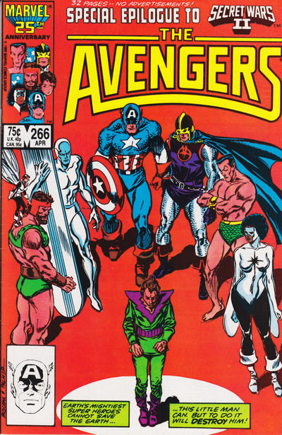 Cover for The Avengers (1963 series) #266 [Newsstand Edition]