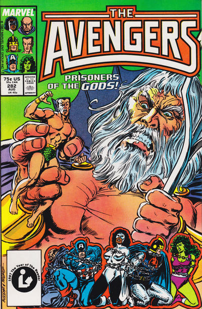 Cover for The Avengers (1963 series) #282 [Direct Edition]
