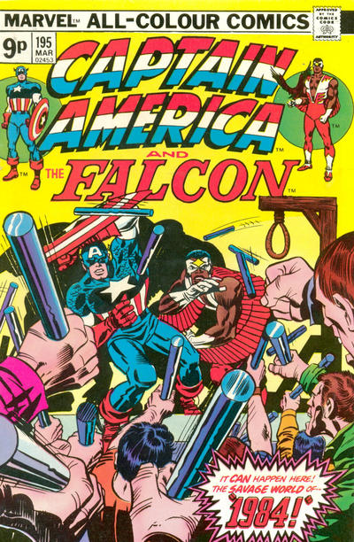 Cover for Captain America (Marvel, 1968 series) #195 [British Price Variant]