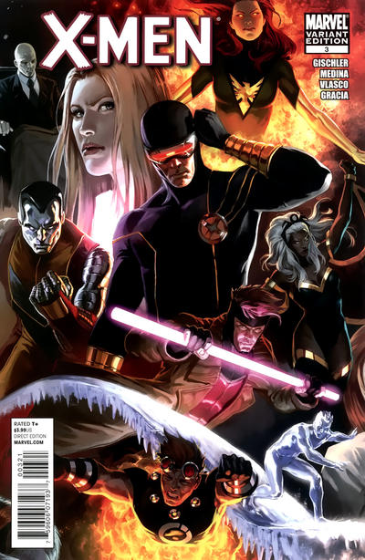 Cover for X-Men (Marvel, 2010 series) #3 [Second Printing]