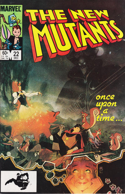 Cover for The New Mutants (1983 series) #22 [Newsstand]