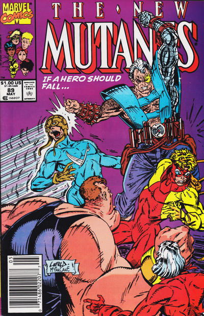 Cover for The New Mutants (1983 series) #89 [Direct Edition]