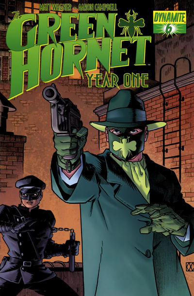 Cover for Green Hornet: Year One (2010 series) #6 [Matt Wagner Cover]
